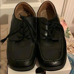 Boys Hush Puppies Carleton Black Shoes Size 3